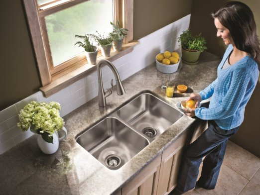 Moen 7594CSL Arbor One-Handle High Arc Pulldown Kitchen Faucet_