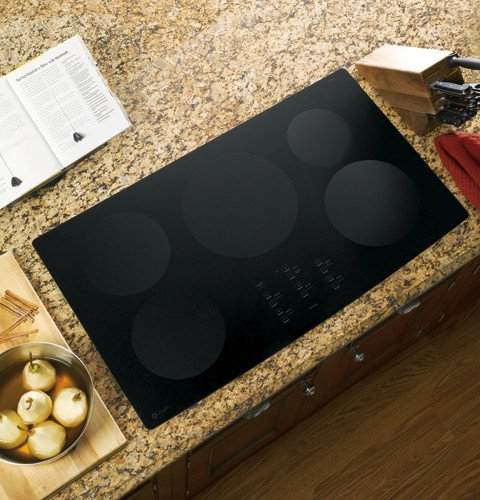 """GE PHP960DMBB Profile 36"""" Black Electric Induction Cooktop"""