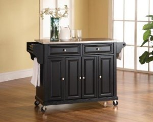 Crosley Furniture Stainless Steel Top Kitchen Cart:Island