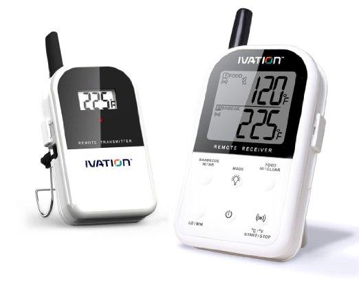 Ivation Long Range Wireless Digital Thermometer Set