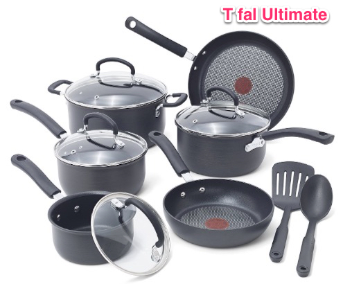 T-fal E918SC Ultimate Hard Anodized Nonstick Expert Interior Thermo-Spot Heat Indicator Cookware Set