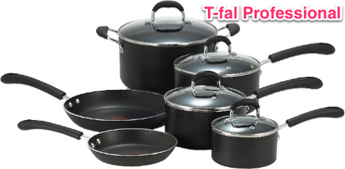 T-fal E938SA Professional Total Nonstick Thermo-Spot Heat Indicator Cookware Set
