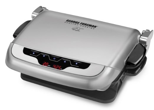 George Foreman GRP4EP Platinum Evolve Grill with 2 Grill Plates