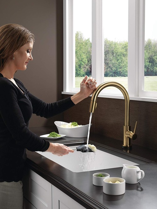 Delta Trinsic Pull Down Kitchen Faucet 9159 Dts Vs 9959 Dts What S The Difference Super Kitchen Com
