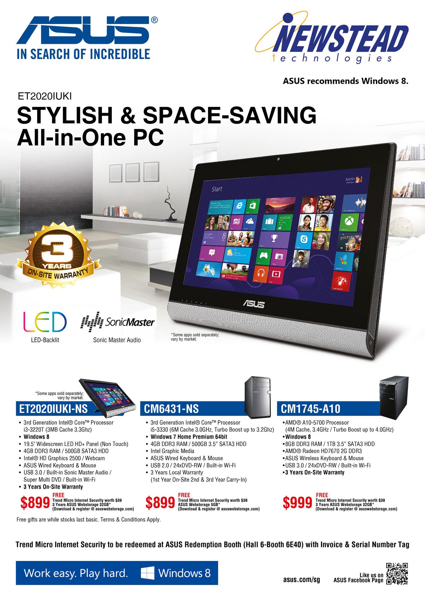Sitex 2013 Asus Laptop Desktop Amp Gaming Pc Flyers