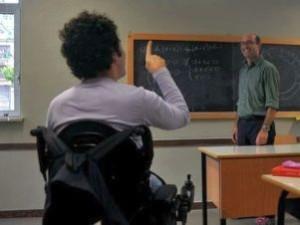 Alunno con disabilità e professore