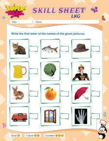 Lkg Worksheets
