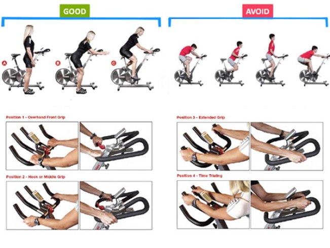 spin-bike-positions