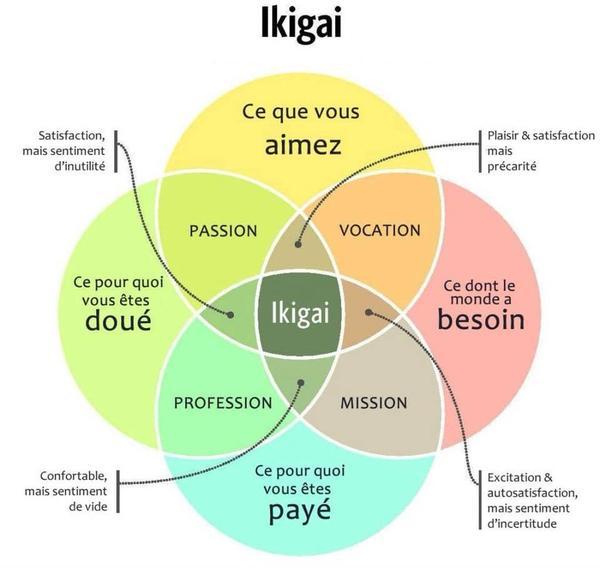 ikigai voie chemin développement personnel résolutions