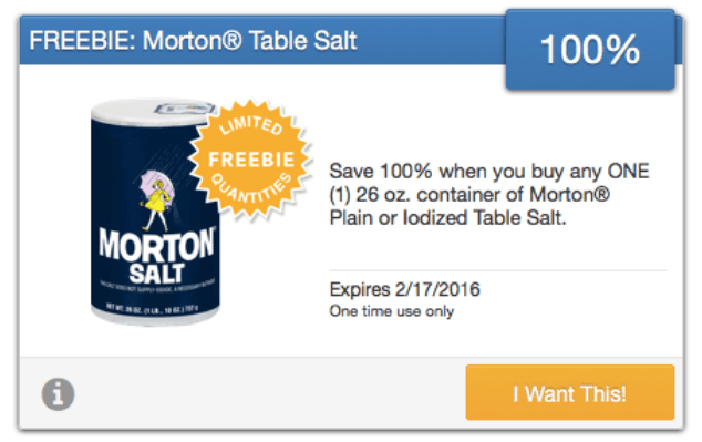 freebie morton table salt saving start