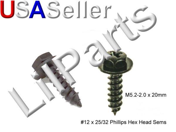 M5.2-2.0 x 20mm #12 x 25/32 Phillips Hex Head Sems A21841 ...