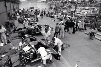 24 Hours of LeMans, LeMans, France, 1966. Ford Racing garage. CD#0554-3252-4006-8.