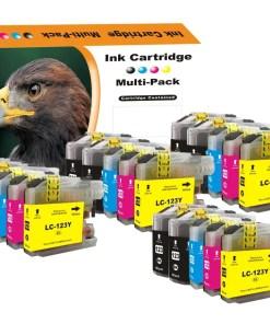 LC123 Multipack voor Brother van 20 inktpatronen