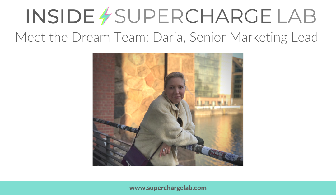 Inside Supercharge Lab: Our Team – Daria, Marketing Lead