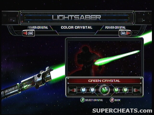 Lightsaber Crystals Star Wars The Force Unleashed Guide