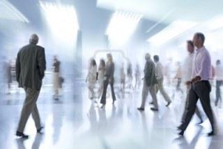 walking people blur 3