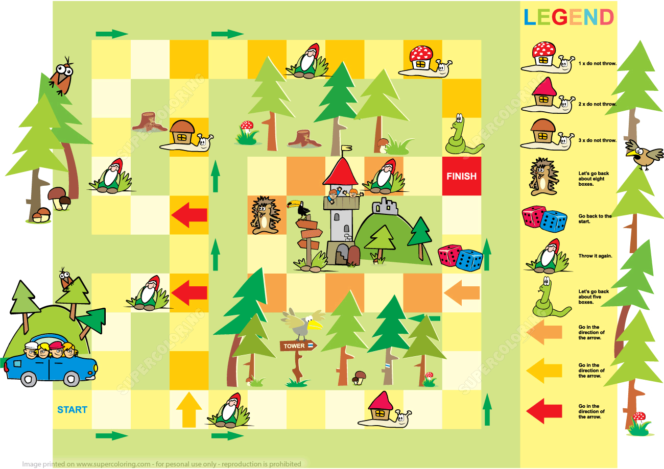 Adventure Board Game Printable Template