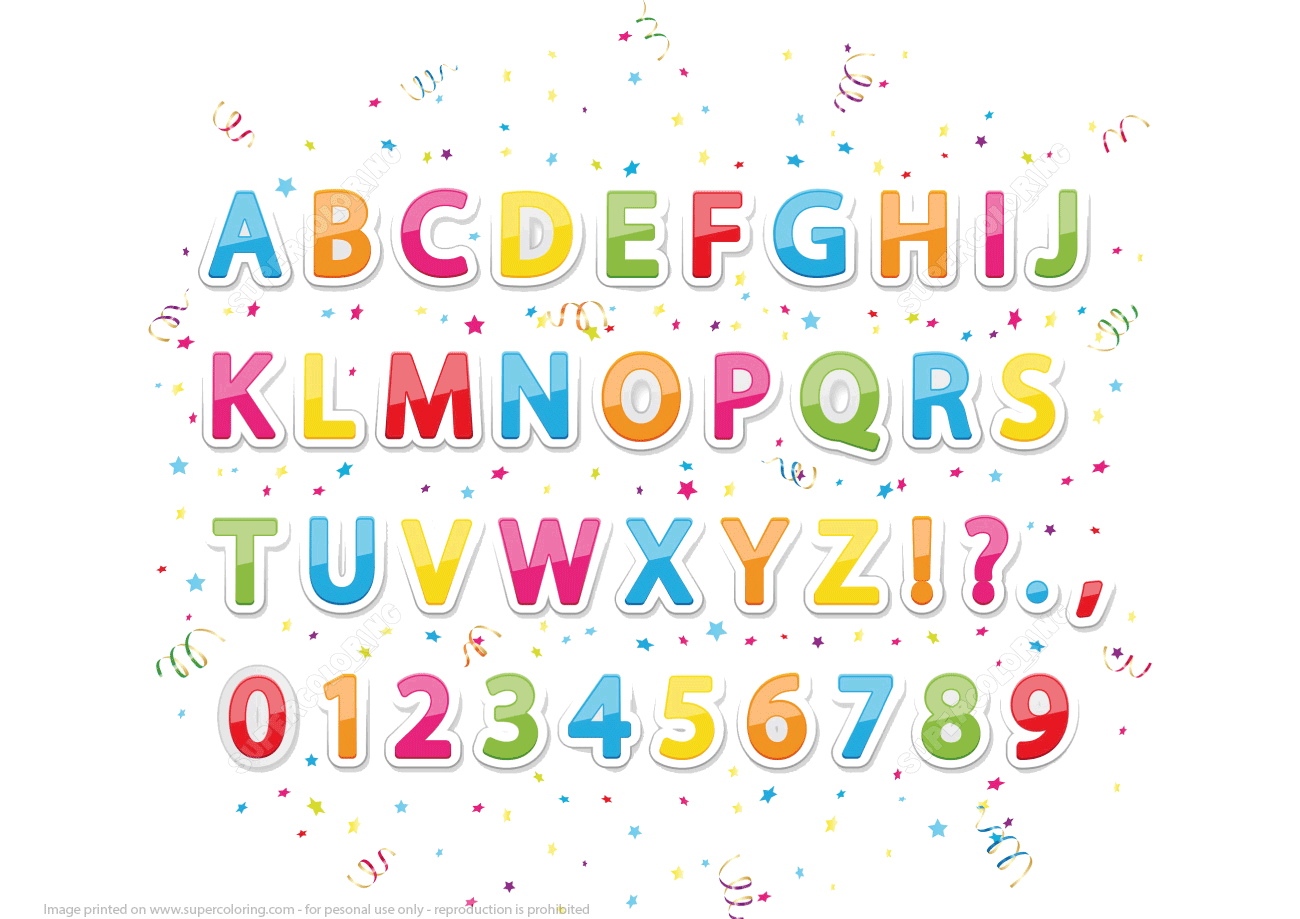 Printable Stickers Of English Alphabet Letters And Numbers