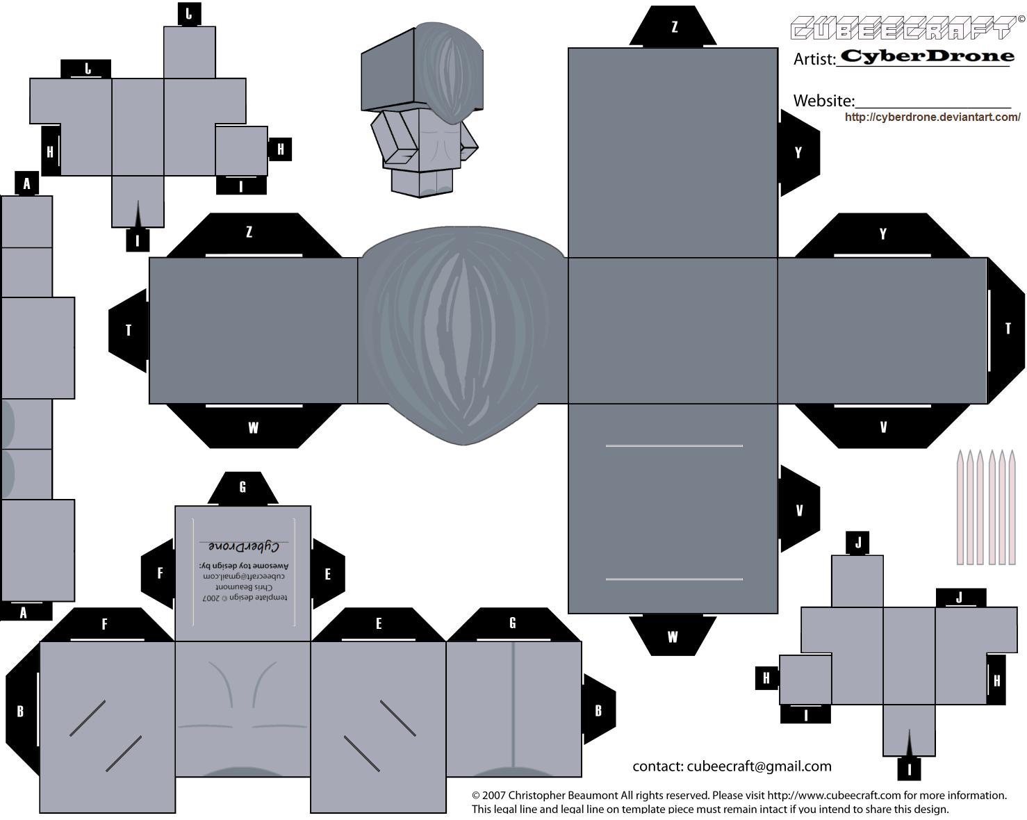 Raston Warrior Robot Paper Toy