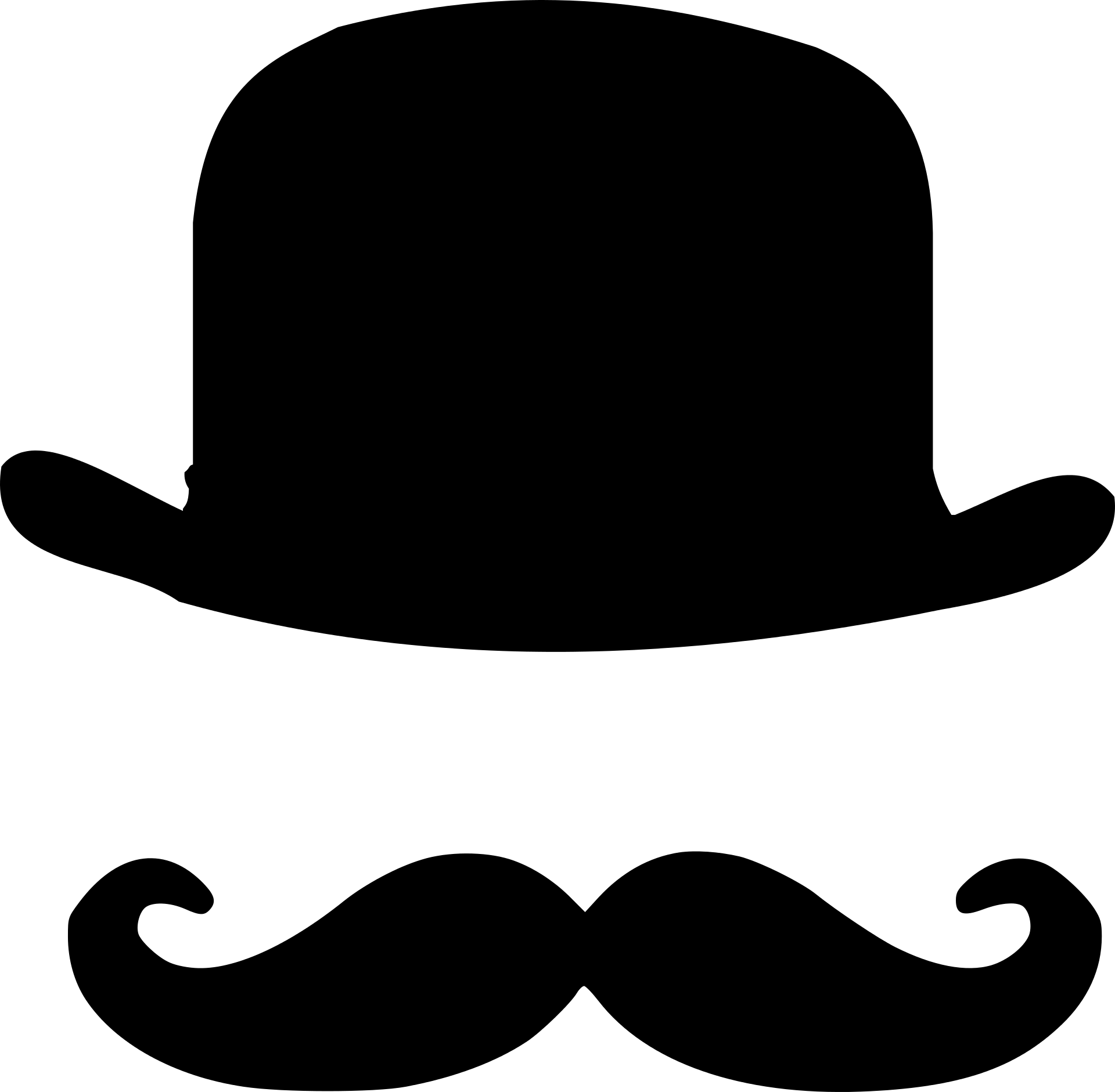 Bowler Hat And Moustaches Photo Prop