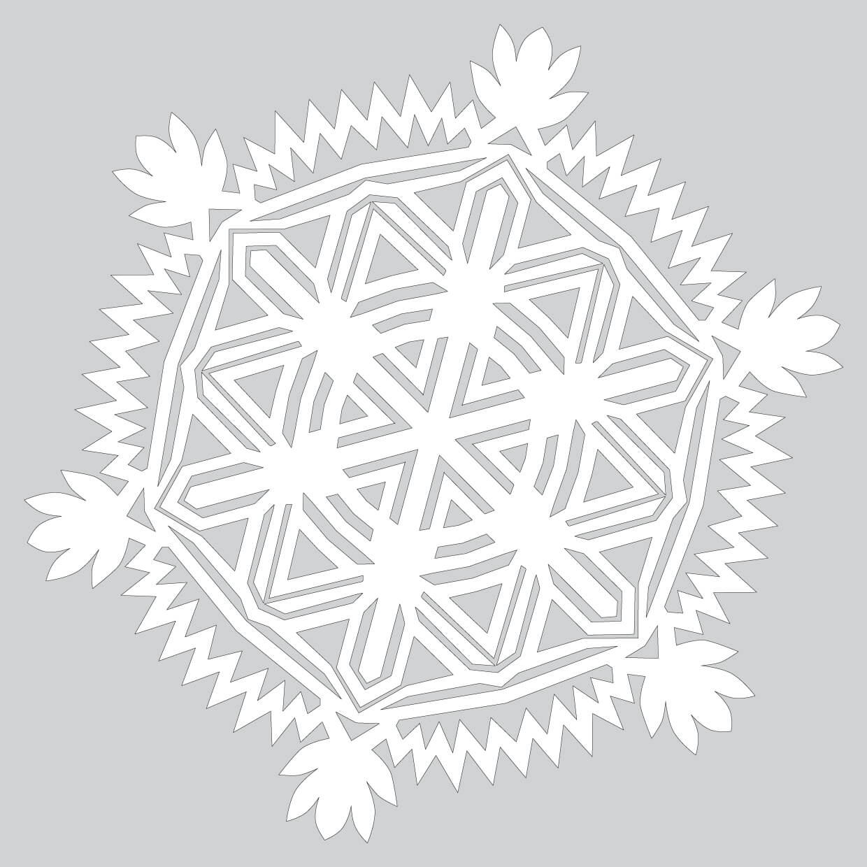 How To Make Complicated Paper Snowflake Pattern