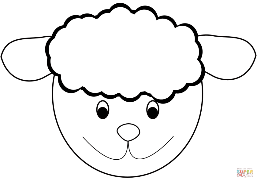 sheep head coloring page  free printable coloring pages