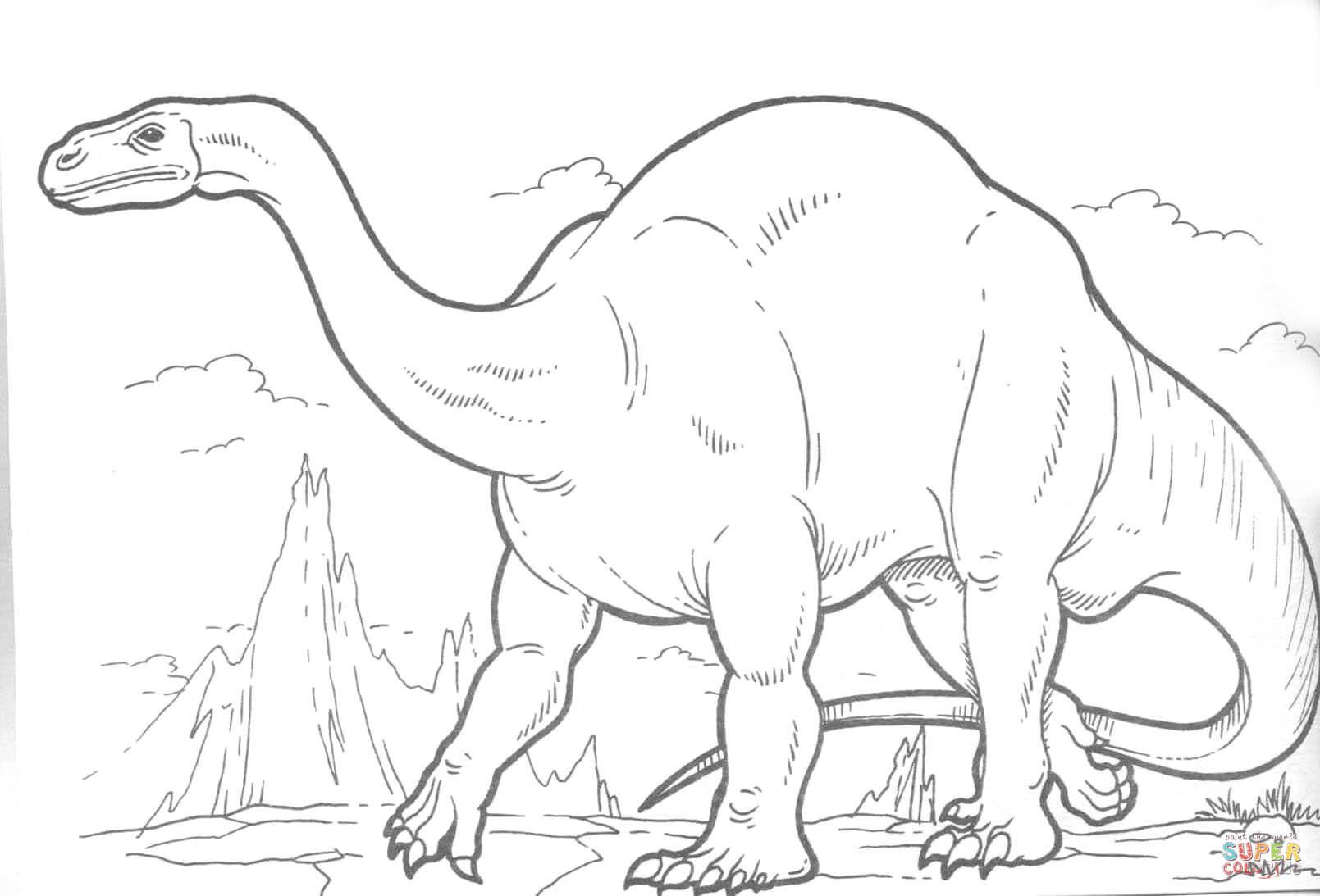 Plateosaurus Dinosaur Coloring Page
