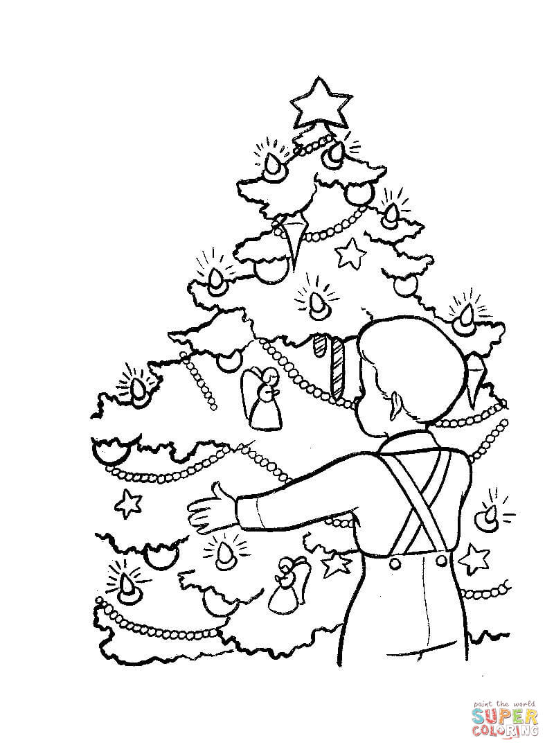 Christmas Eve In Germany Coloring Page Free Printable Coloring Pages