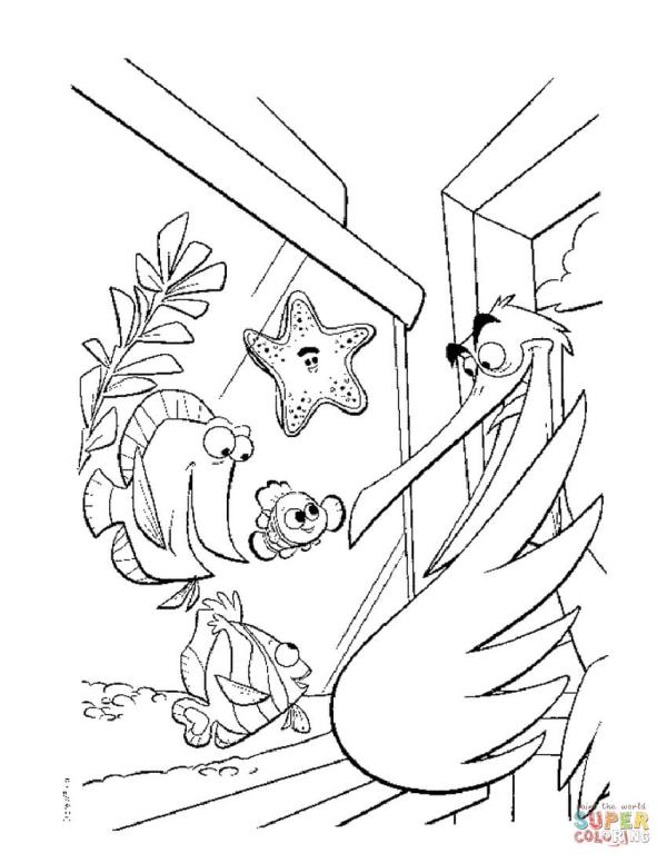 finding nemo coloring page # 29