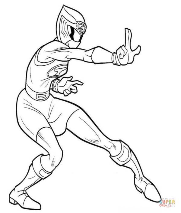power rangers coloring page # 17