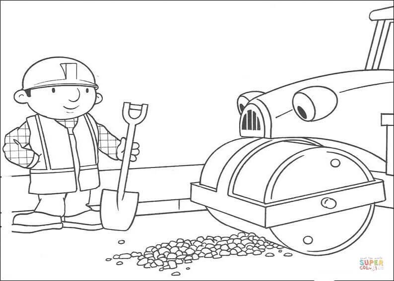 Animados, rompecabezas de cualquier clase (exc. Dibujo de Roley ayuda a Bob a arreglar la carretera para