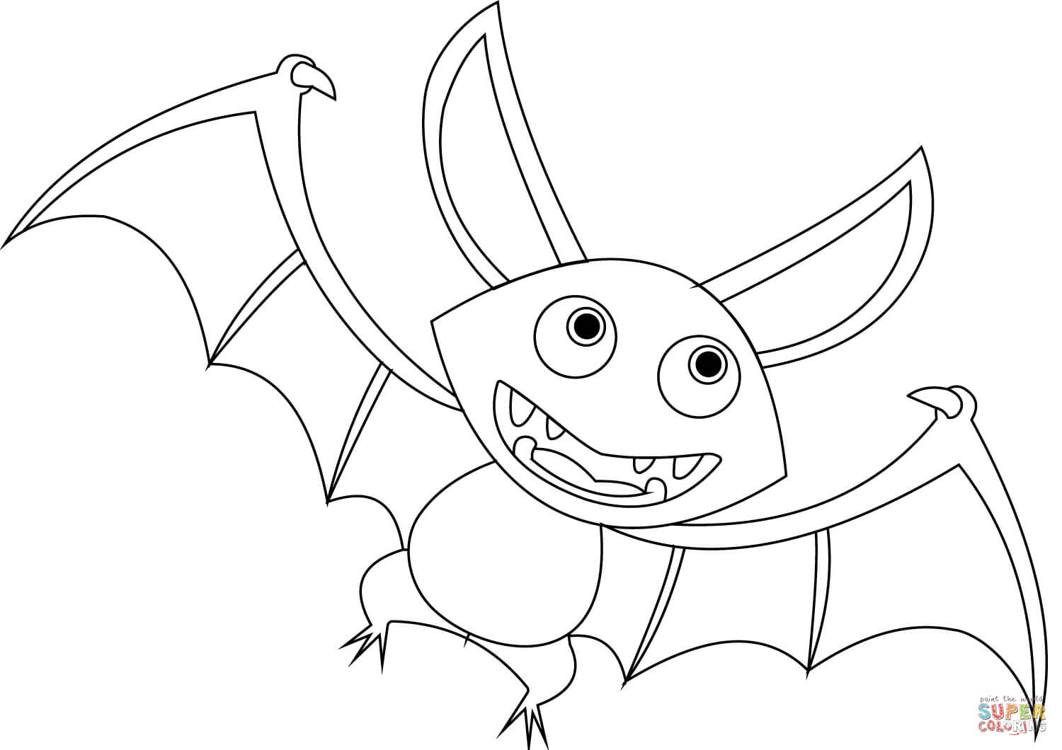 List of Cartoon Coloring Bats Pict - Best Pictures