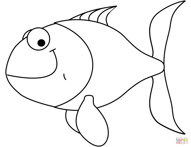 Cartoon Goldfish coloring page  Free Printable Coloring Pages
