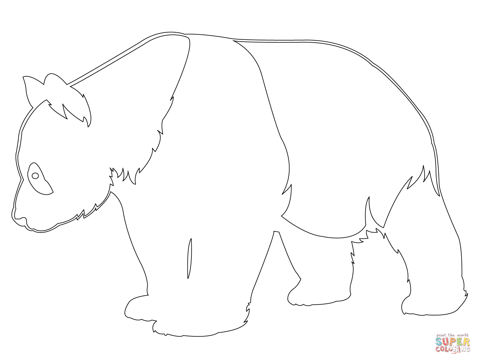 Giant Panda Outline Coloring Page