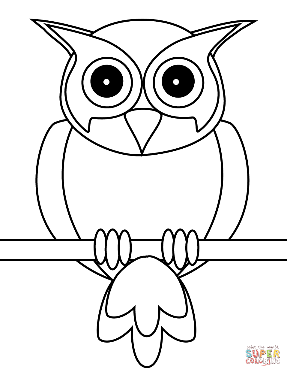Owl Coloring Page Free Printable Coloring Pages