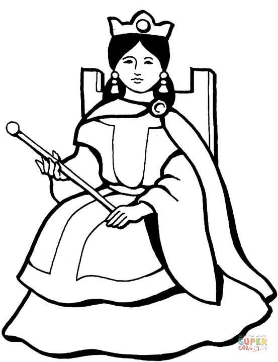 Queen coloring page | Free Printable Coloring Pages