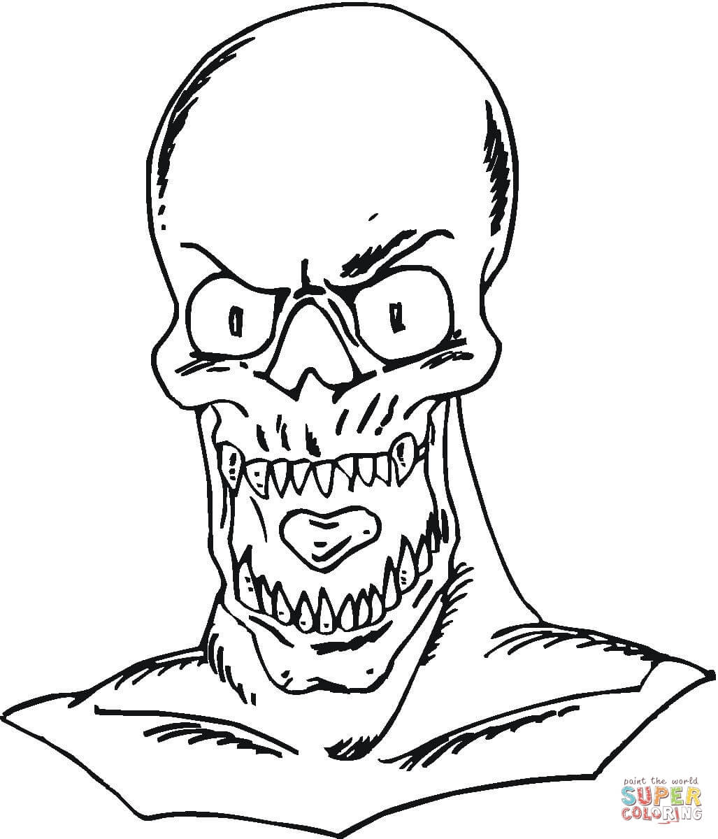 Zombie Coloring Pages Free Coloring Pages