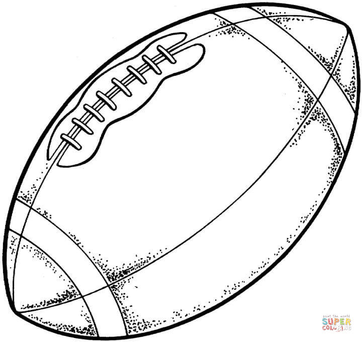 Typical modern American football coloring page | Free ...