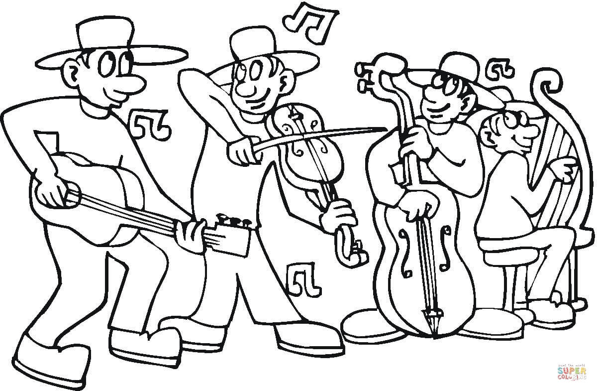 Concert Coloring Page