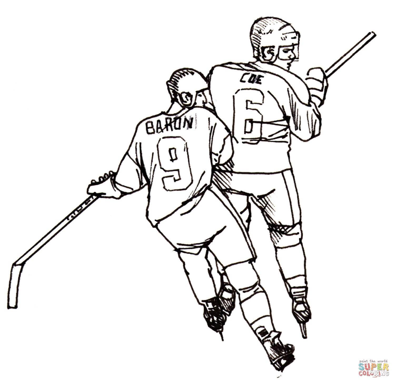 Ausmalbild Hockeyspieler