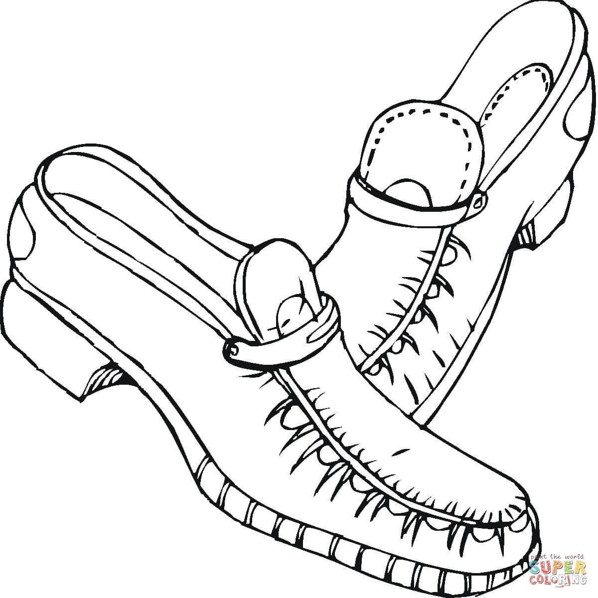 Shoes Coloring Page Free Printable Coloring Pages
