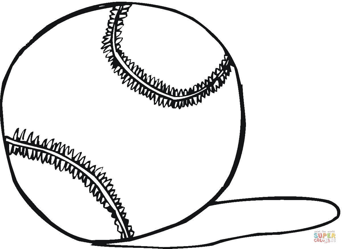 Tennis Ball Coloring Page