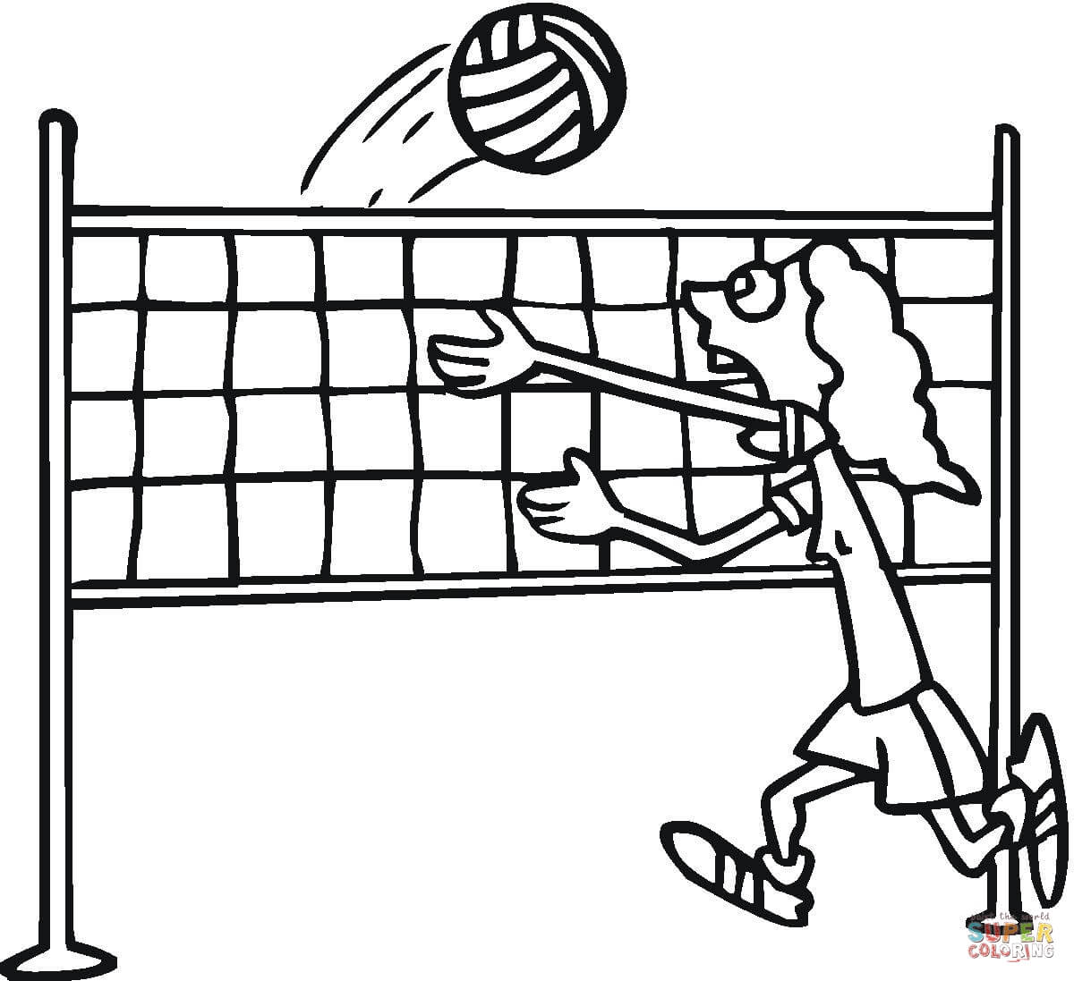 Volleyball Coloring Pages Free Coloring Pages