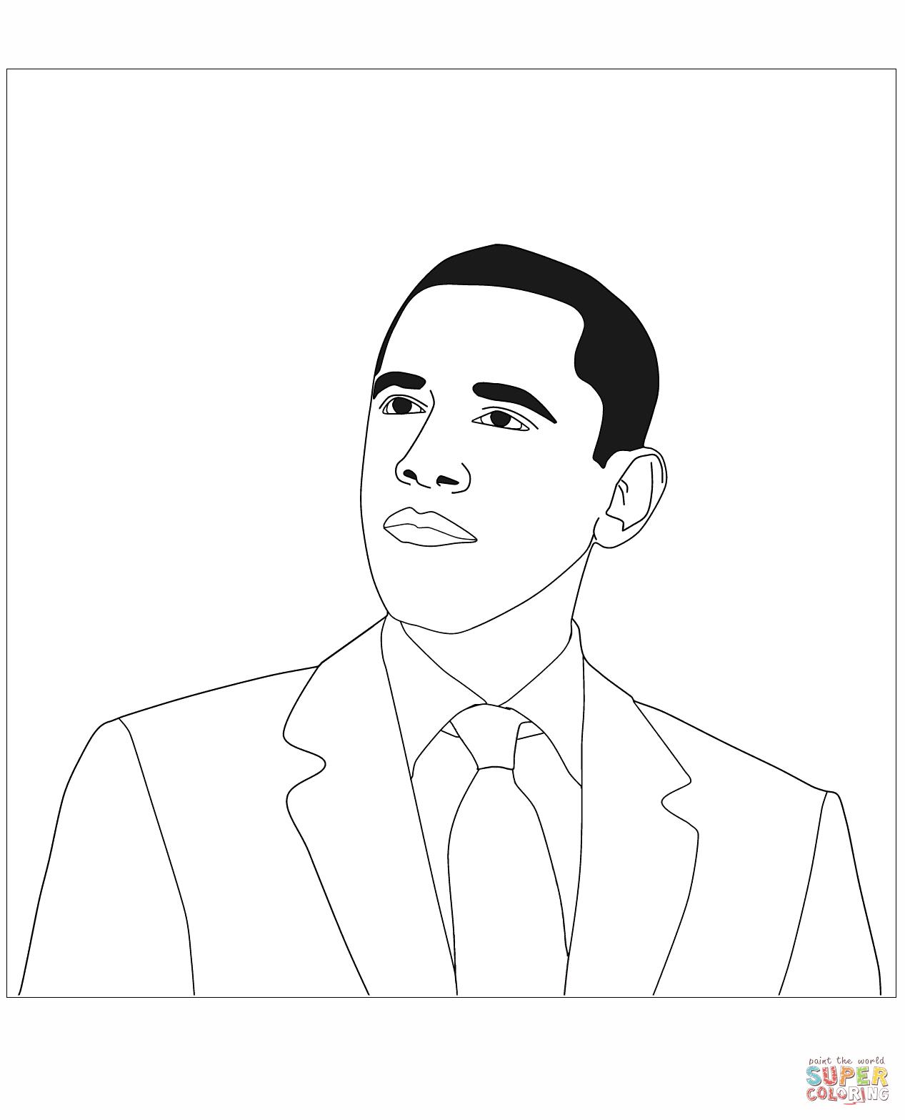 President Barack Obama Coloring Page