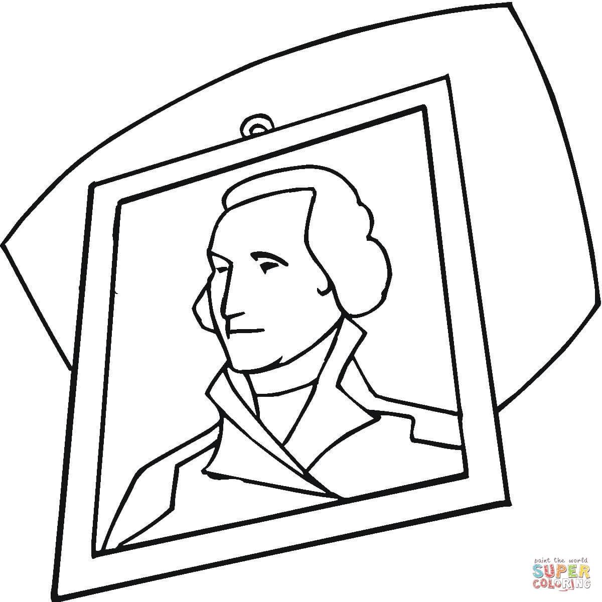 George Washington Portrait Coloring Page