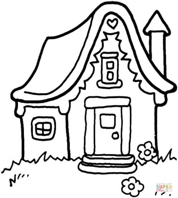 coloring pages of houses # 3