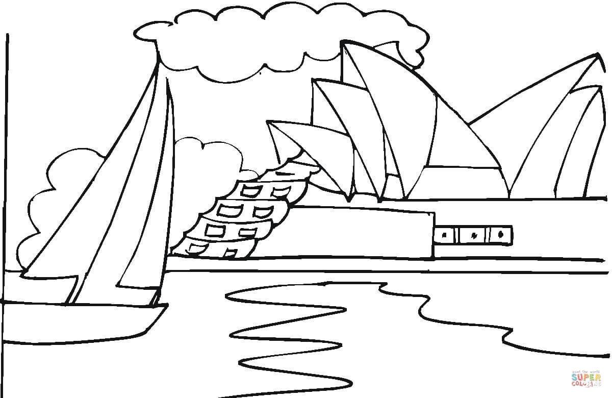 Ausmalbild Das Opernhaus In Sydney