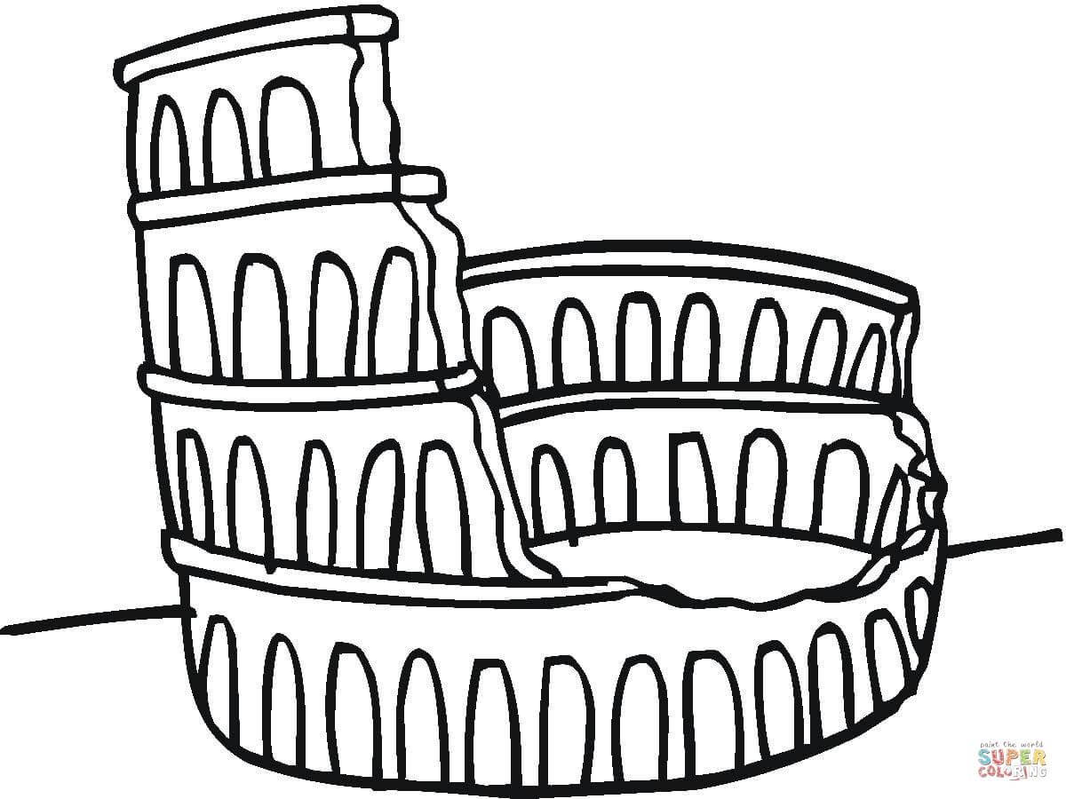 Colosseum Ruine Kleurplaat
