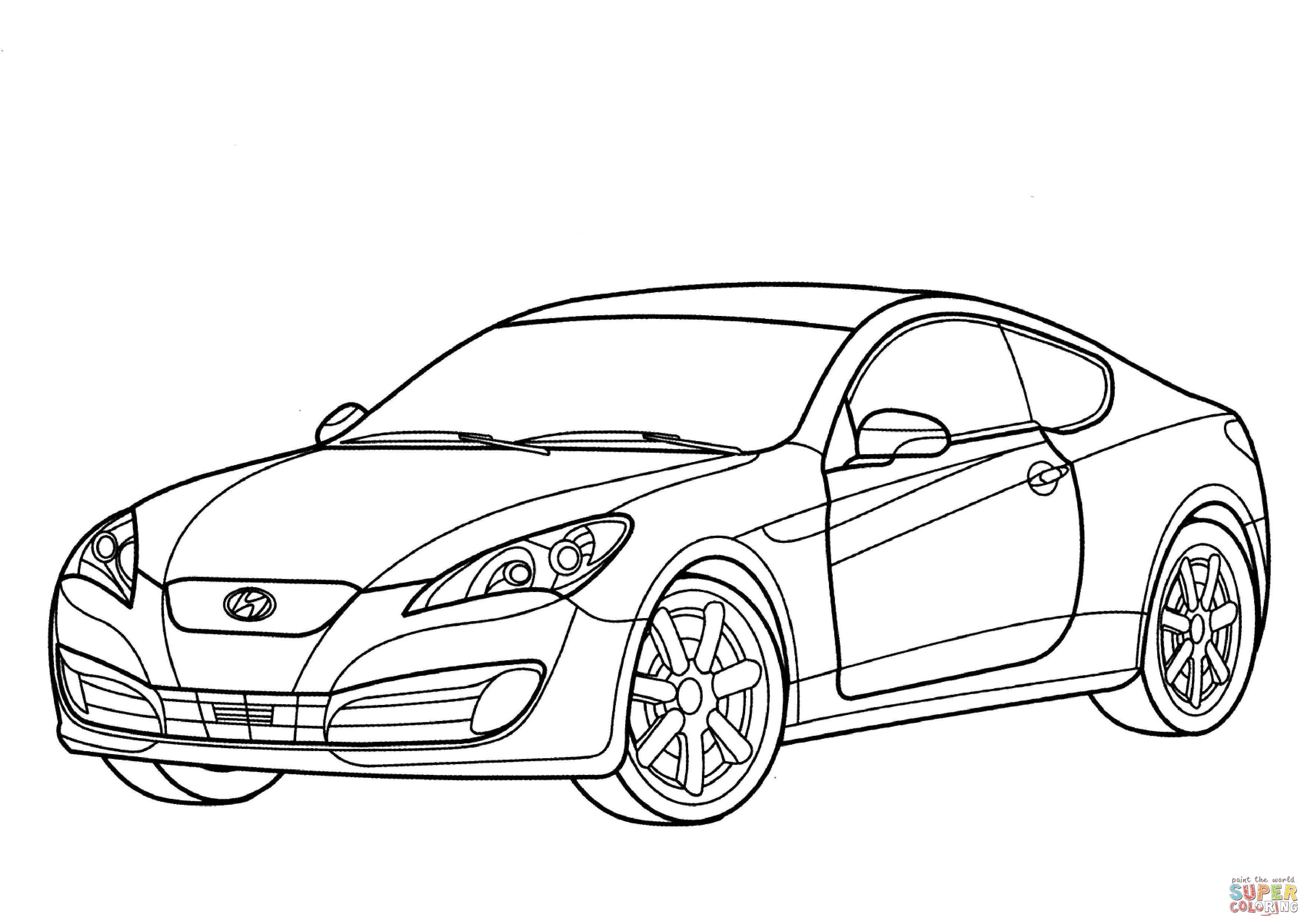 Desenho De Hyundai Genesis Cupe Para Colorir