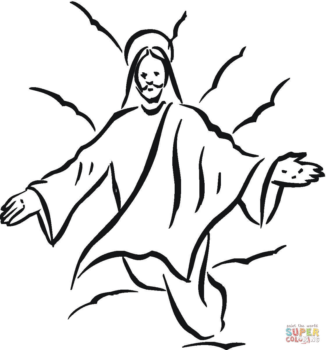 Jesus Coloring Page Free Printable Coloring Pages